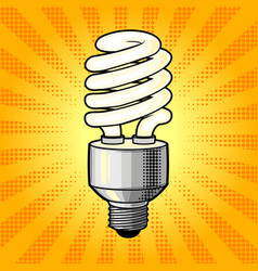 Fluorescent lamp comic book style vector