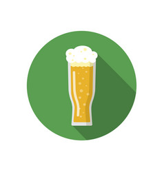 glass of beer on a colorful background vector image vector image