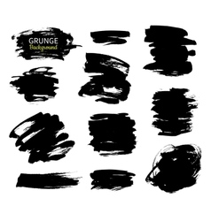 Grunge ink background set Abstract vector image vector image