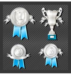 medals and cup vector image