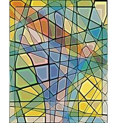 Mosaic hand vector image vector image