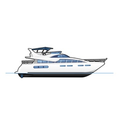 motor yacht vector image