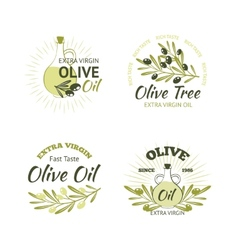 Olive Emblems Set vector image
