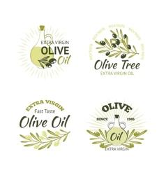 Olive Emblems Set vector image vector image