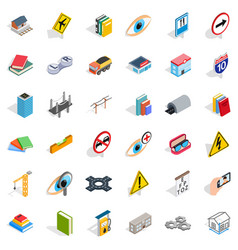 Project icons set isometric style vector