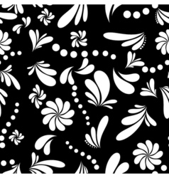 Seamless abstract floral background vector image