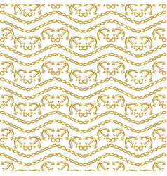 seamless pattern with stripes and chains ongoing vector image vector image
