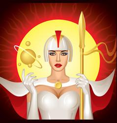 Solar queen vector
