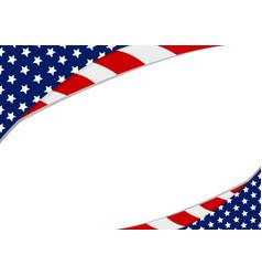 usa flag design on white background vector image