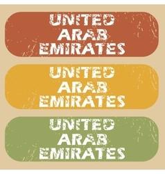Vintage United Arab Emirates stamps vector image