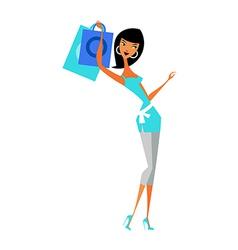woman standing vector image vector image