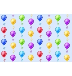 Seamless background with party balloons vector image