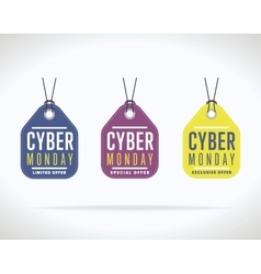 Cyber Monday sale sticker isolated vector image