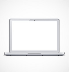 Laptop with white screen vector