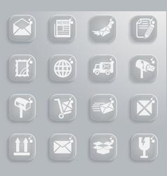 Post service icon set vector