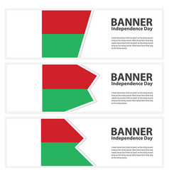 Madagascar flag banners collection independence vector