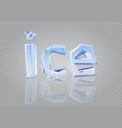 Transparent word ice vector