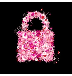 Closed lock floral style vector