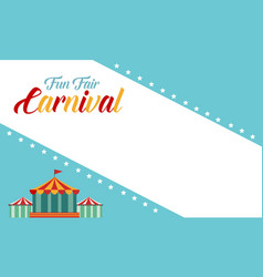 Background carnival funfair funny style vector