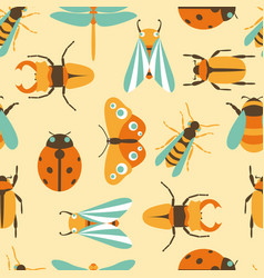 insects icons collection vector image