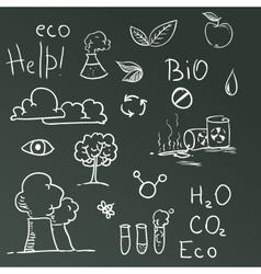 Set of Eco symbols vector image