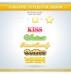 Set of various graphic styles for design vector