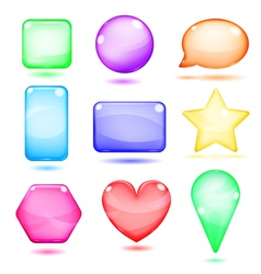 Opaque colored glass shapes vector