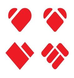 Heart shape1 resize vector image