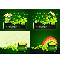 Creative set of st patricks day background vector