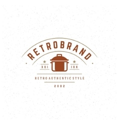 Restaurant design element in vintage style for vector