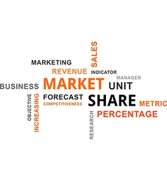 Word cloud market share vector