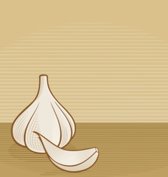 Garlic woodcut vector