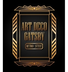 art deco element gatsby design vector image