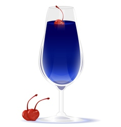 Drink blue curacao vector