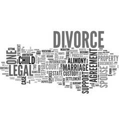 A divorce glossary text word cloud concept vector