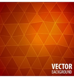 Abstract mosaic red background vector image vector image