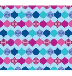 Abstract pattern with ornaments vector image