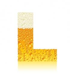 alphabet beer l vector image vector image