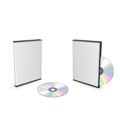 blank dvd case vector image vector image