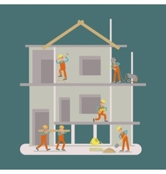 Builders construction working vector
