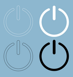 Button turn on or off icon the black and white vector