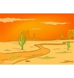 cartoon nature landscape desert vector image