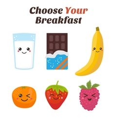 Choose Your breakfast Healthy lifestyle breakfast vector image