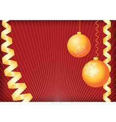 christmas background gold and red vector image vector image