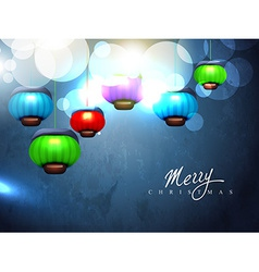 christmas lamp vector image vector image