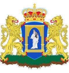 coat of arms of assen of netherlands vector image vector image
