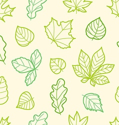 Different summer leaves seamless pattern vector
