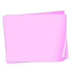 Empty pink papers vector image vector image