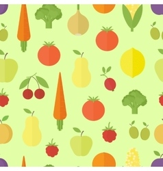 Fruits seamless pattern in flat vector image vector image