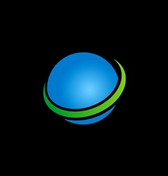 globe sphere earth blue logo vector image vector image